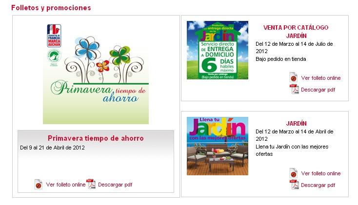 captura catálogos alcampo 2012