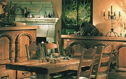 muebles rústicos de roble