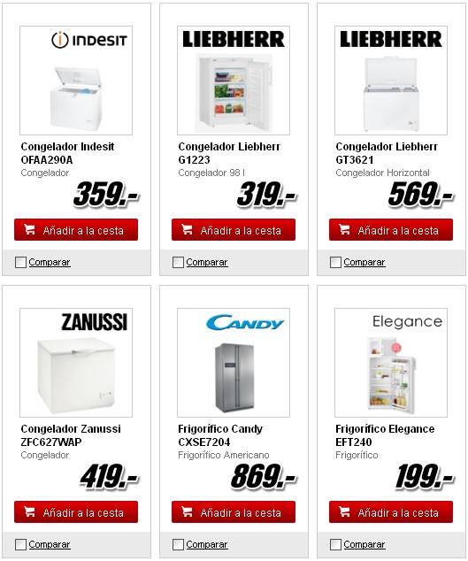 Catálogos de frigoríficos media Markt