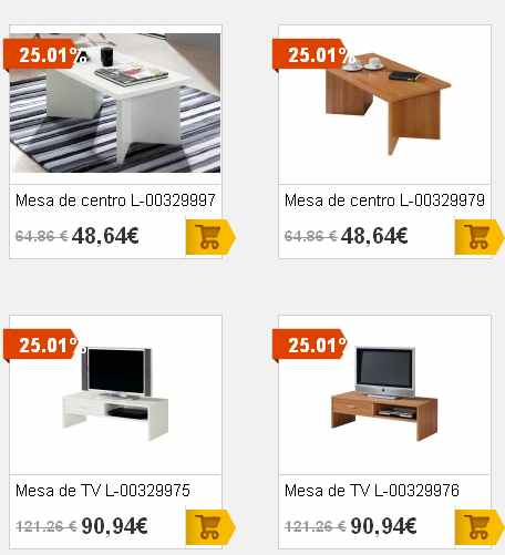 Ofertas muebles auxiliares en merkamueble for Catalogo de muebles de salon en merkamueble