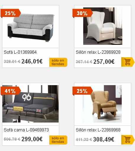 Sofas y sillones en merkamuble