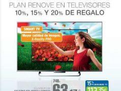 Plan renovación de televisores en el corte inglés