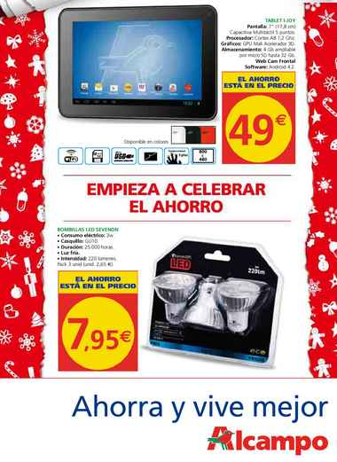 catalogo alcampo de tablets