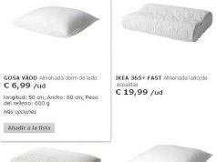 catalogo de almohadas
