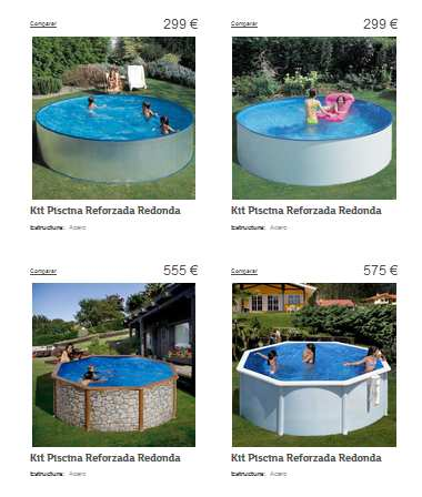 Nuevo cat logo de piscinas eroski for Piscina hinchable carrefour
