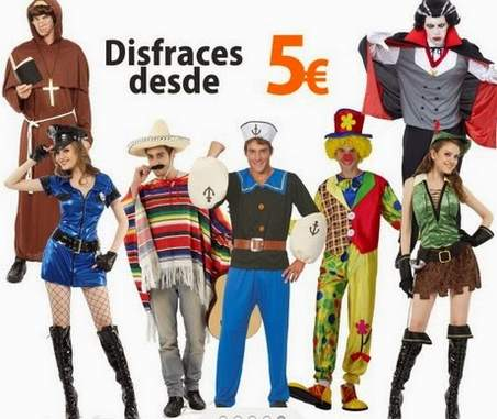 varios modelos de disfraces para comprar en alcampo a muy buen precio
