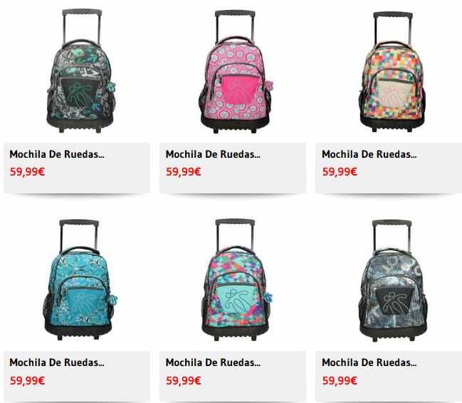 ofertas de precios en mochilas
