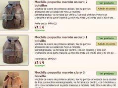 catalogo de mochilas de cuero baratas