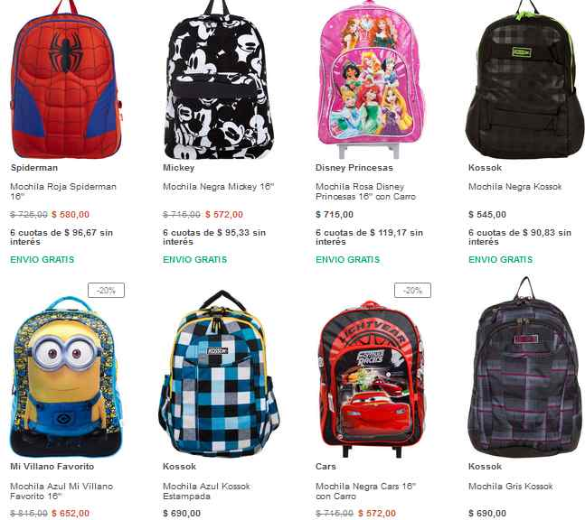 mochilas infantiles baratas