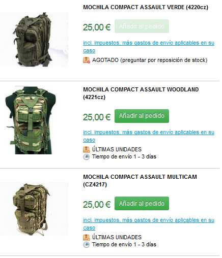 mochilas militares catalogo 1