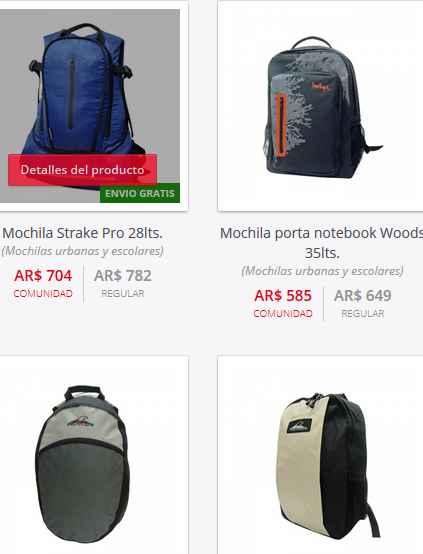 catalogo mochilas montagne