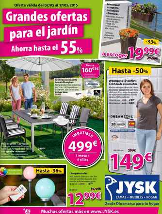 Jysk nuevo cat logo de jard n cat logo 2018 for Cofac catalogo jardin 2015