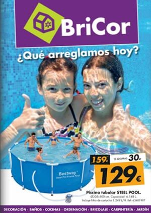 Nuevo catalogo bricor piscinas precios especiales for Piscinas desmontables bricor