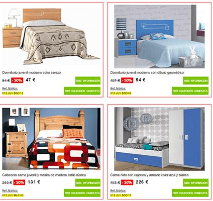 Dormitorios juveniles en muebles boom for Precios de dormitorios juveniles
