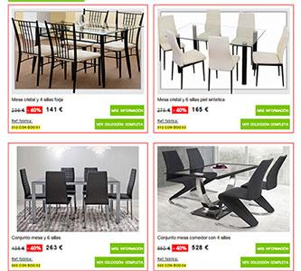 Muebles boom ofertas de mesas y sillas for Catalogo de muebles boom