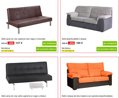 Muebles boom cat logo de sof s for Catalogos de sofas cama