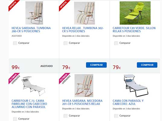 Catalogo Sillas De Playa Carrefour