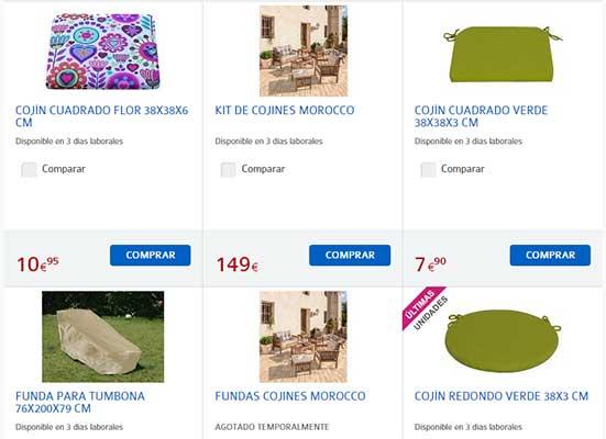 Precios FUNDAS SOFA Carrefour