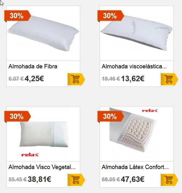 Almohadas - Almohadas viscoelásticas, látex, fibra - Almohadas las mejores marca-13-22