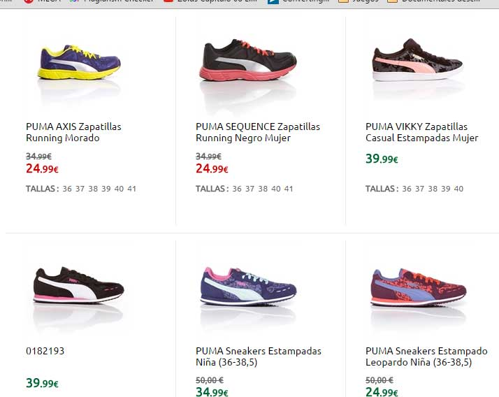 zapatillas puma catalogo