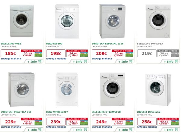 lavadoras alcampo carga frontal