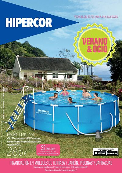 Piscinas hipercor folleto online para este verano for Piscinas hipercor catalogo