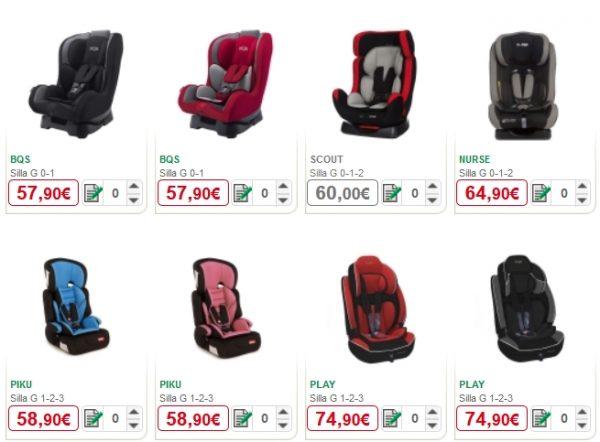 sillas para autos alcampo