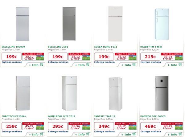 frigoríficos heladeras 2 puertas