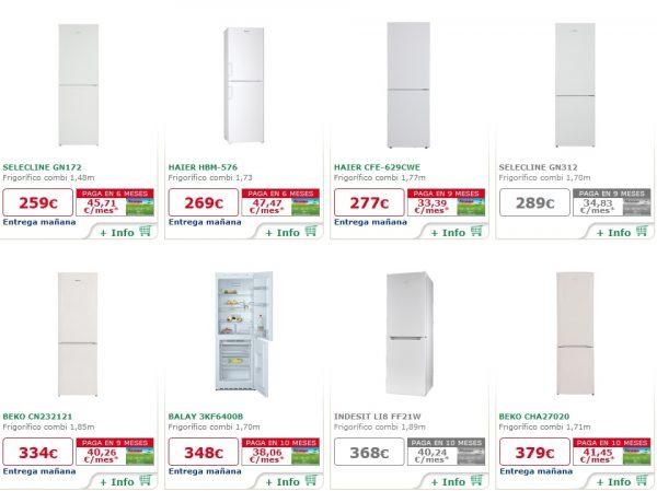 Cat logo de ofertas frigorificos alcampo precios y - Precios electrodomesticos alcampo ...