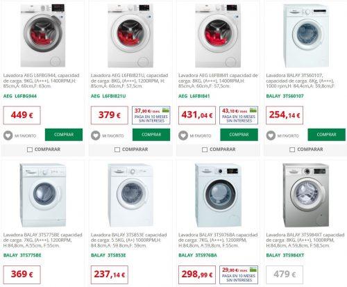 lavadoras alcampo electrodomésticos catalogo