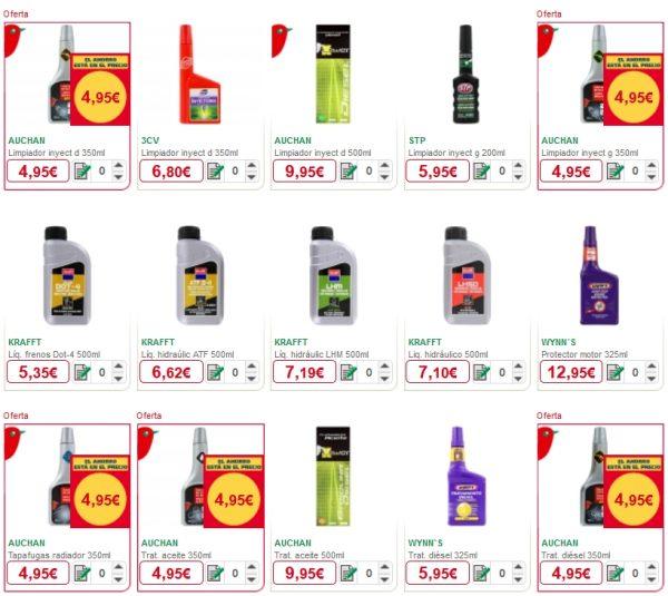 lubricantes y aditivos alcampo