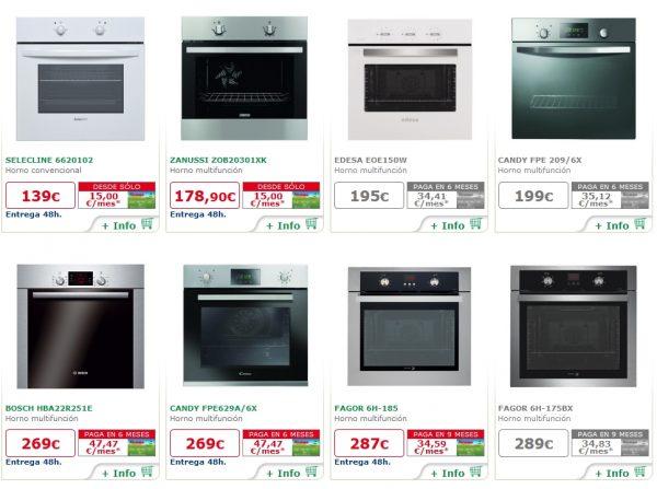 Cocinas alcampo modelos precios y ofertas en el nuevo for Ofertas de hornos de cocina