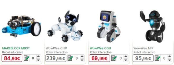 robots educativos alcampo