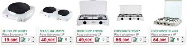 Placas de gas alcampo opciones precios y modelos en el for Cocinas de butano en carrefour
