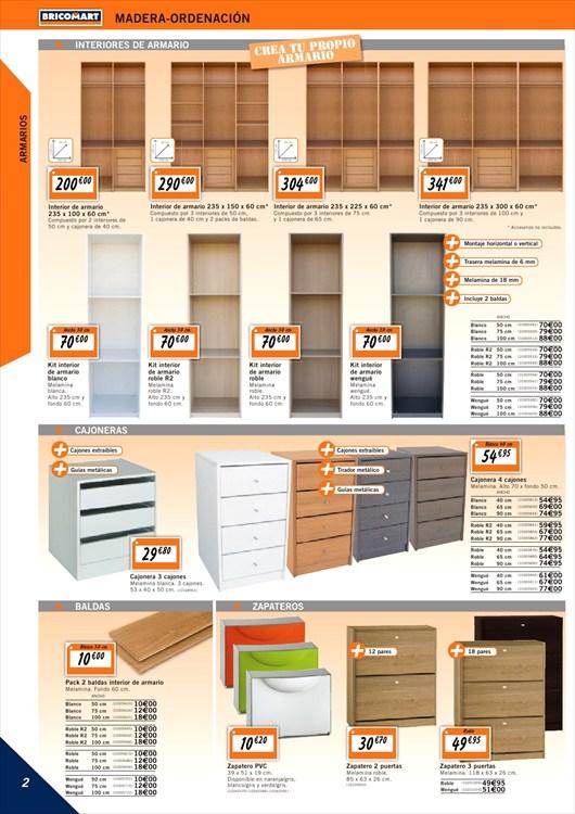 Armarios bricomart listado de modelos y precios for Modelos de puertas y precios