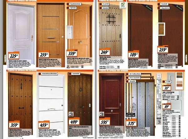 Puertas de interior bricomart materiales de construcci n for Duchas bricomart