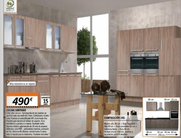 Cocinas bricomart cat logo de modelos y precios for Ver cocinas y precios