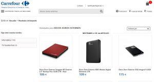 Discos duros Externos Carrefour