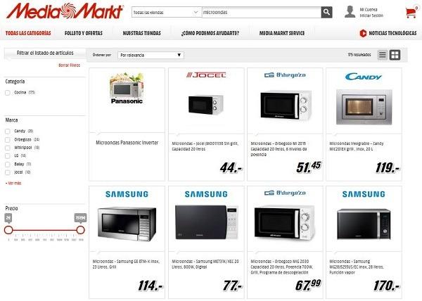 Microondas media markt precios y modelos de oferta for Piletas intex precios y modelos