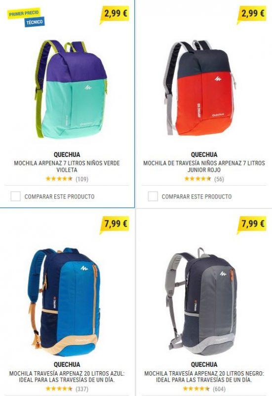 mochilas y bolsos en oferta