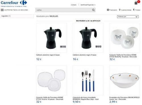 Vajillas carrefour cat logos de precios y dise os for Catalogo de vajillas