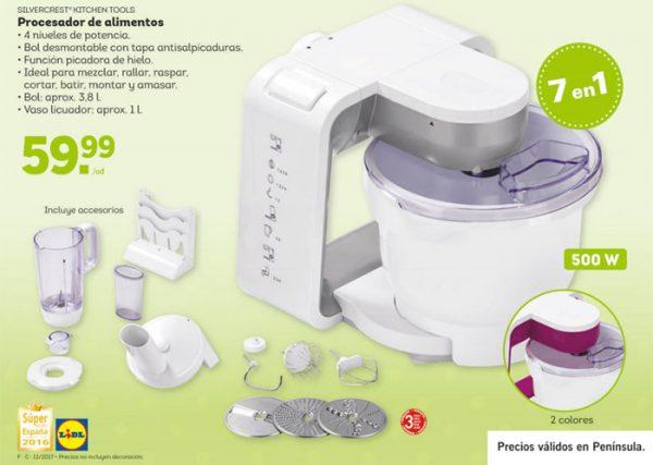 Amasadoras lidl cat logos de modelos y precios for Que es un procesador de alimentos