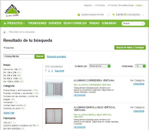 Mosquiteras a medida online great with mosquiteras a for Mosquiteras enrollables leroy merlin