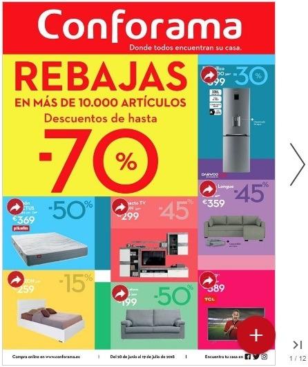 Catálogo CONFORAMA REBAJAS Julio