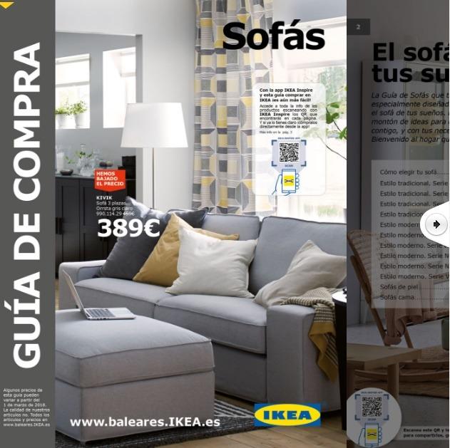 Folleto gu a de compra ikea sof s enero cat logo 2018 for Ikea compra online