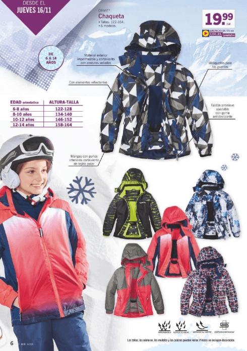 LIDL ropa de nieve para jóvenes