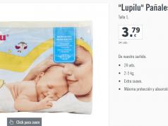 Pañales LIDL recién nacido