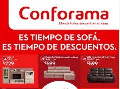 """Descuentos CONFORAMA–Muebles """"Tiempo de sofás"""""""