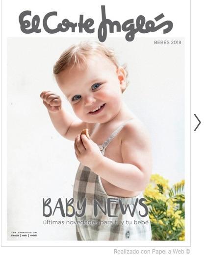 """Catálogo Baby News """"El Corte Inglés"""" – Novedades para mamá y el bebé"""