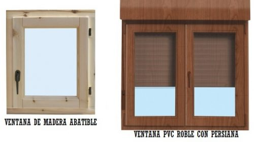 Ventanas de madera y PVC